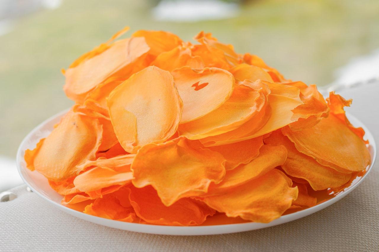 сладкие чипсы в духовке из тыквы