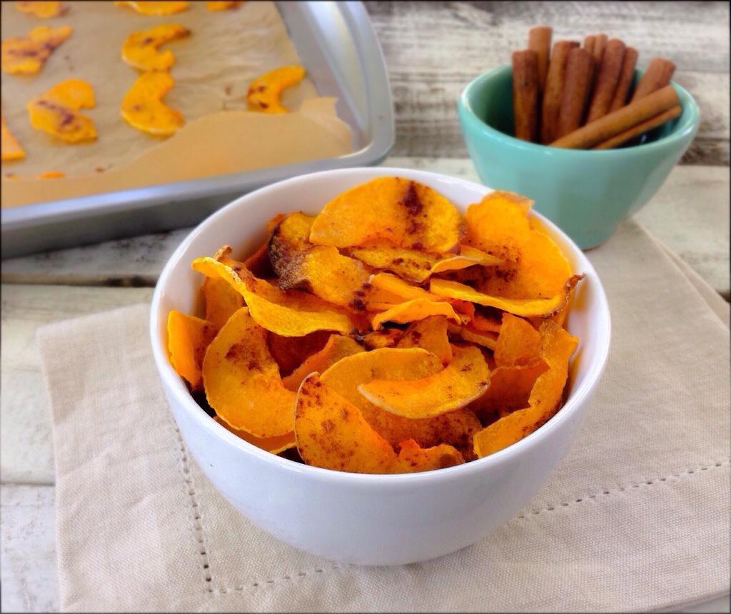 домашние чипсы с апельсинами из тыквы