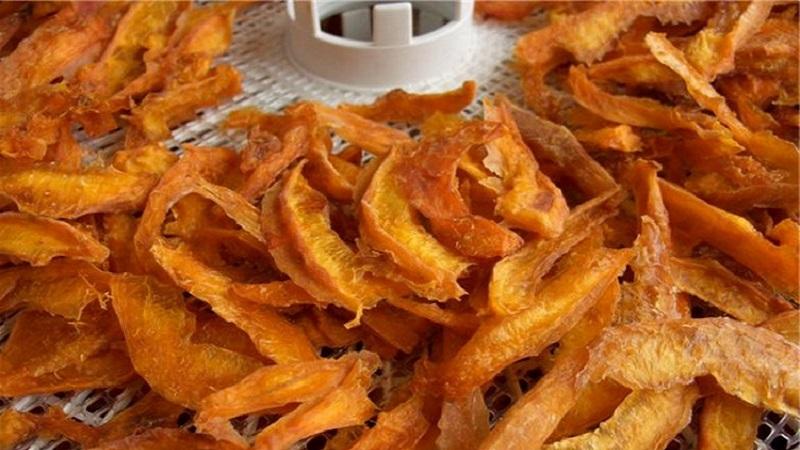 чипсы из тыквы в сушилке