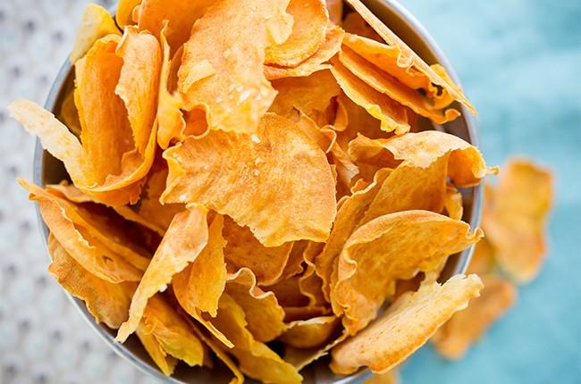 солёные чипсы в духовке из тыквы