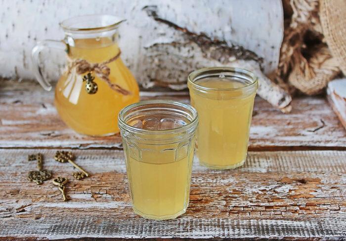 квас из березового сока без дрожжей, классический рецепт фото